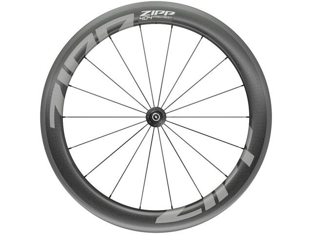"""Zipp 404 Firecrest Front Wheel 28"""" 100mm Carbon Clincher Tubeless QR black"""